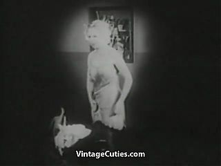 Undressing Blonde gets Watched by Peeping Tom (Vintage)