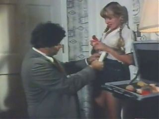 Dildo and sex with dirty blonde pigtail schoolgirl